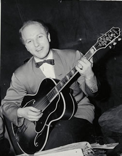 Billy Bauer Playing an Epiphone Deluxe